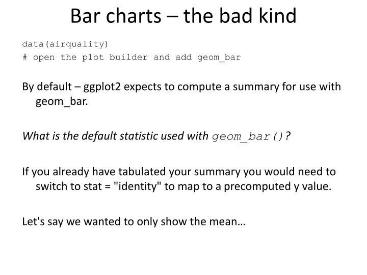 Bar charts – the bad kind