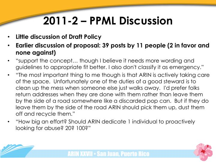 2011-2 – PPML Discussion