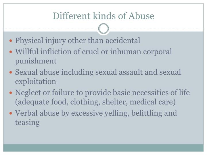 Different kinds of Abuse