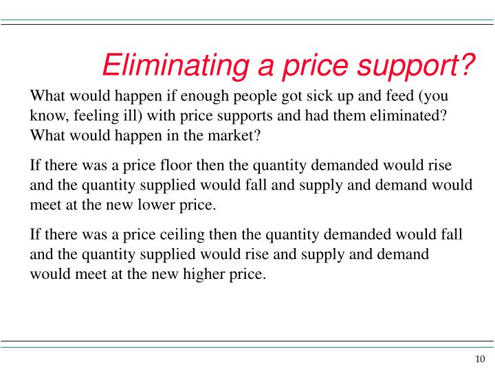 Eliminating a price support?