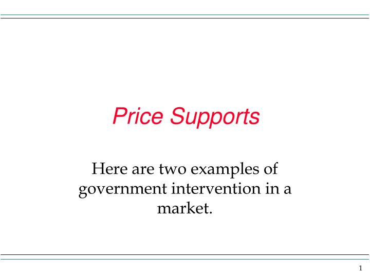 Price supports