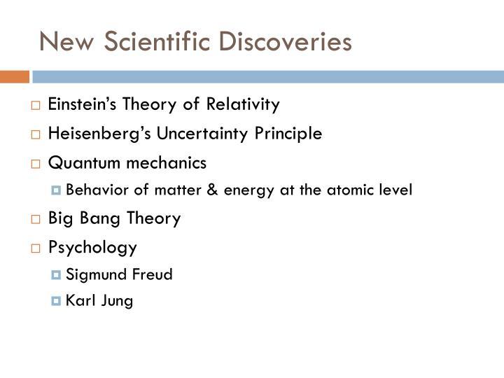New Scientific Discoveries