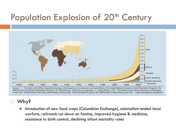 Population explosion of 20 th century