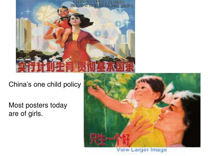 China's one child policy