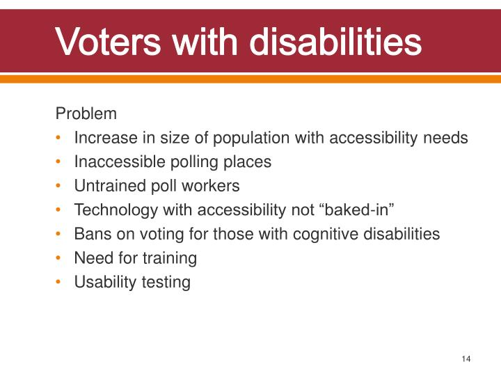 Voters with disabilities