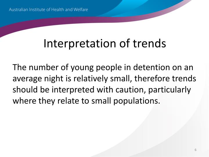 Interpretation of trends