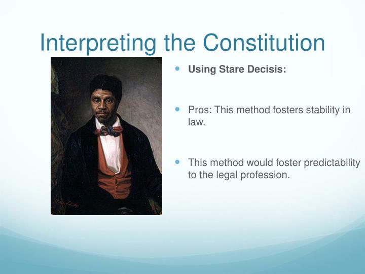 Interpreting the Constitution