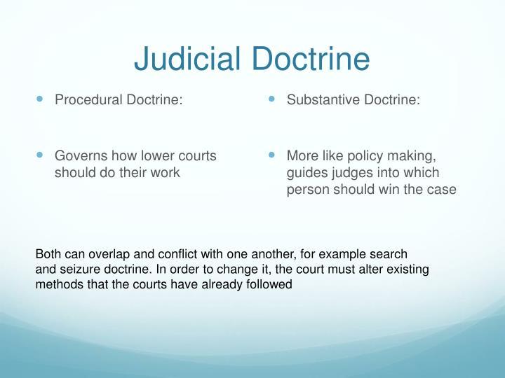 Judicial Doctrine