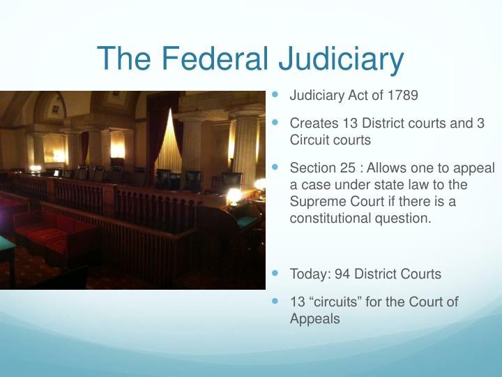 The federal judiciary1