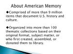 about american memory
