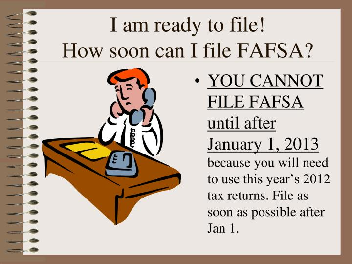 I am ready to file!
