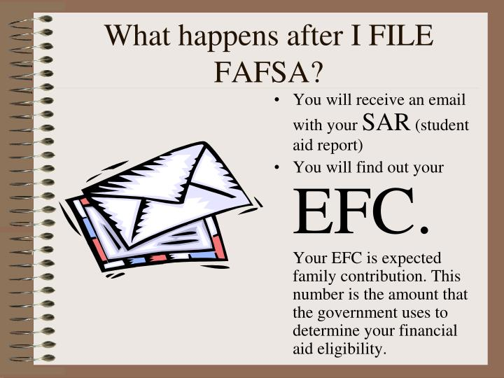 What happens after I FILE FAFSA?
