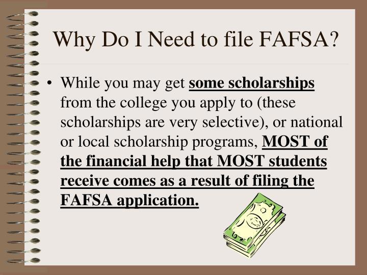 Why do i need to file fafsa