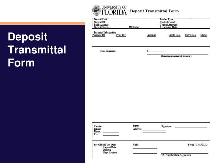Deposit Transmittal Form