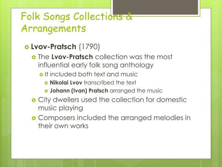 Folk Songs Collections & Arrangements