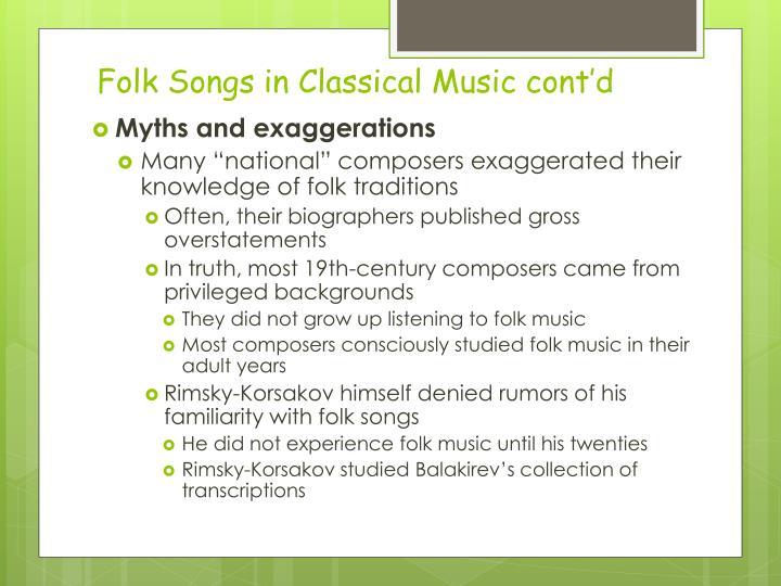 Folk Songs in Classical