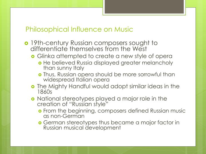 Philosophical Influence on Music