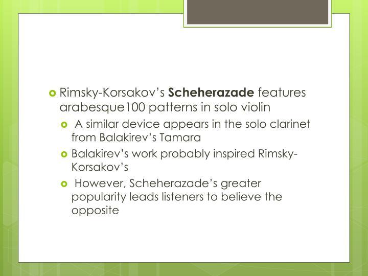 Rimsky-Korsakov's