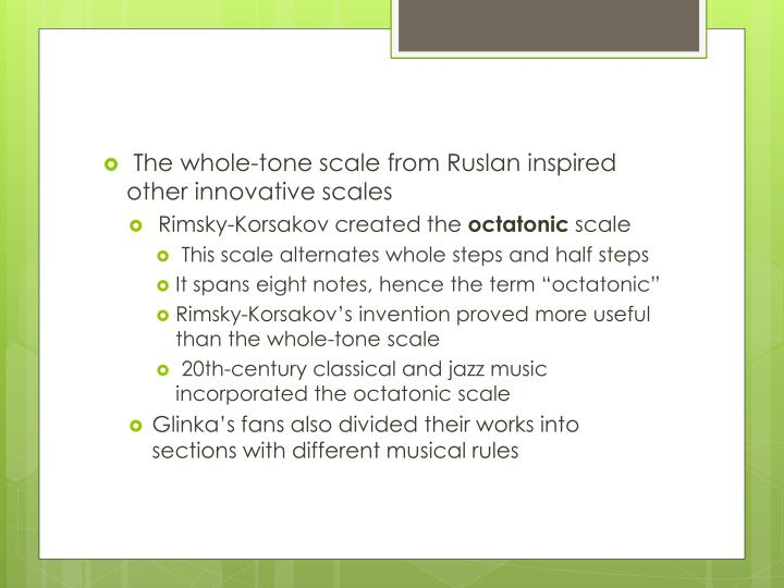 The whole-tone scale from