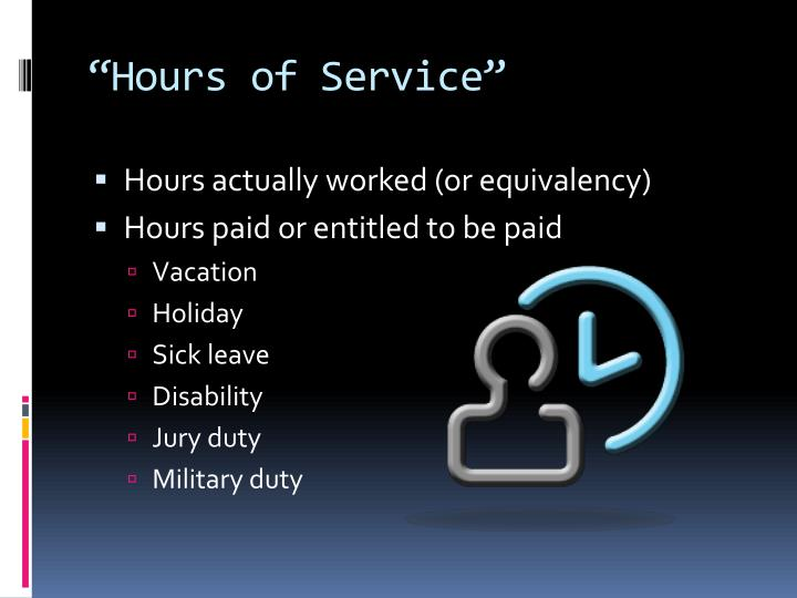 """Hours of Service"""