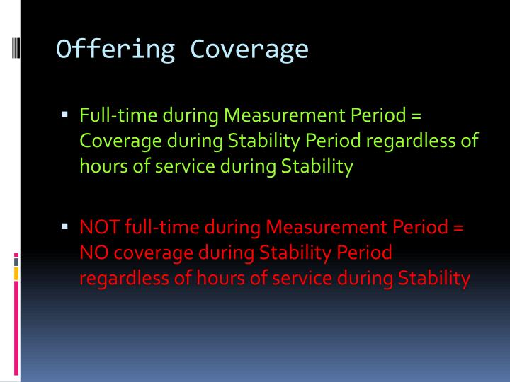 Offering Coverage