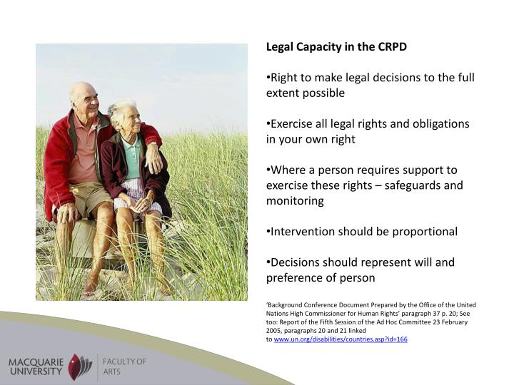 Legal Capacity in the CRPD