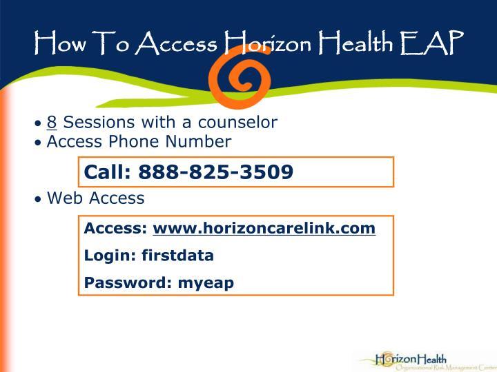 How To Access Horizon Health EAP