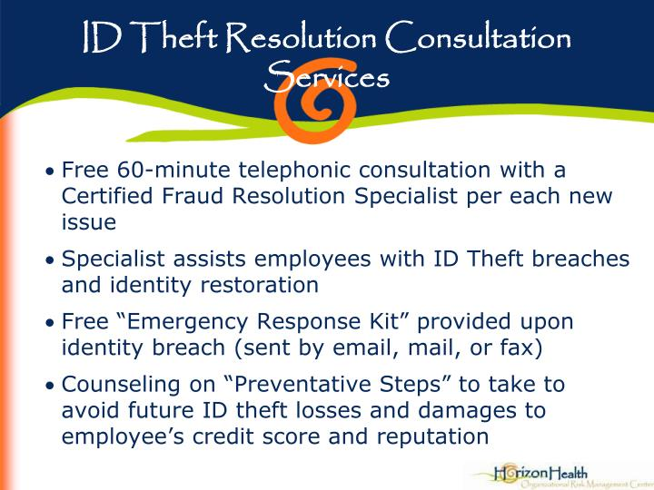 ID Theft Resolution Consultation Services