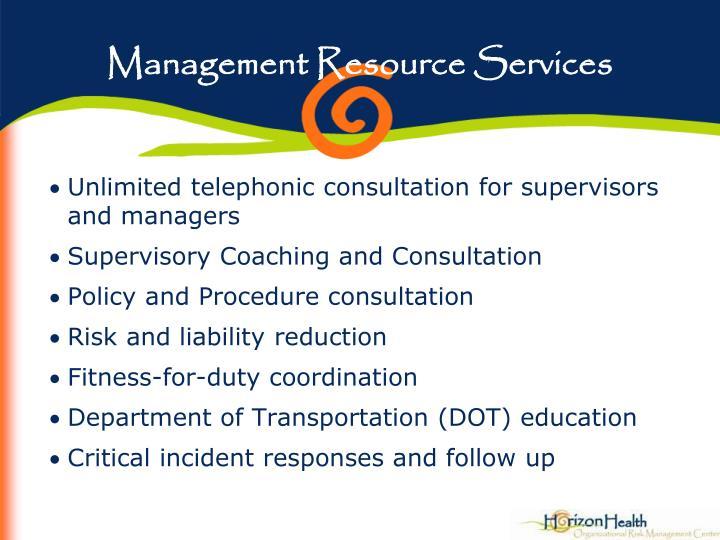 Management Resource Services