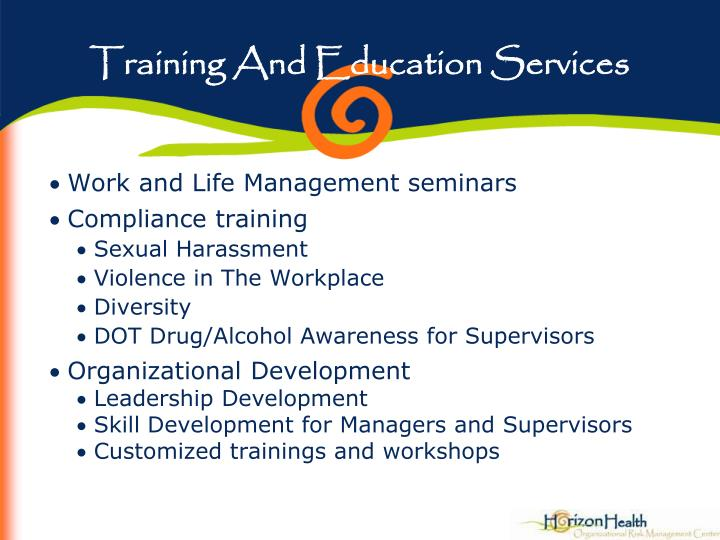 Training And Education Services