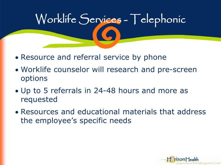 Worklife Services - Telephonic
