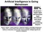 artificial intelligence is going mainstream