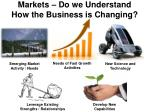 markets do we understand how the business is changing
