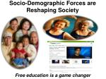 socio demographic forces are reshaping society