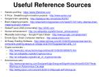 useful reference sources