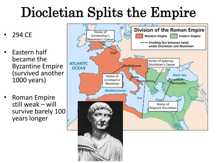 Diocletian Splits the Empire
