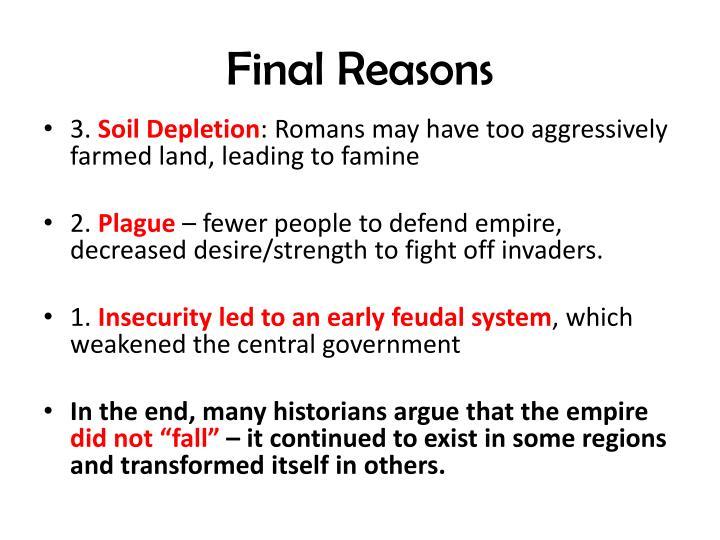 Final Reasons
