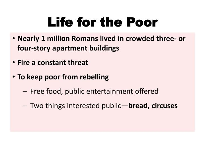 Life for the Poor