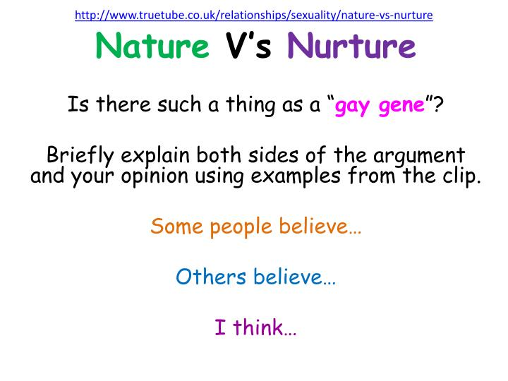 Sexuality nature vs nurture