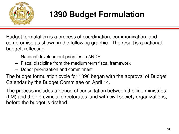 1390 Budget Formulation