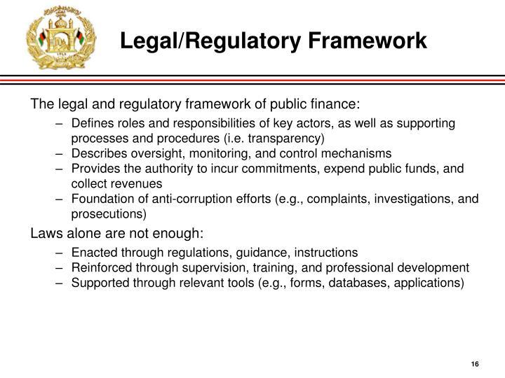 Legal/Regulatory