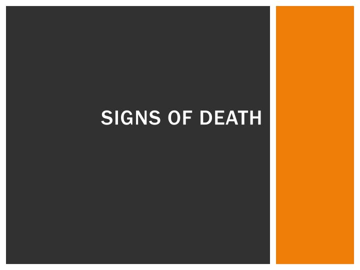 Signs of Death