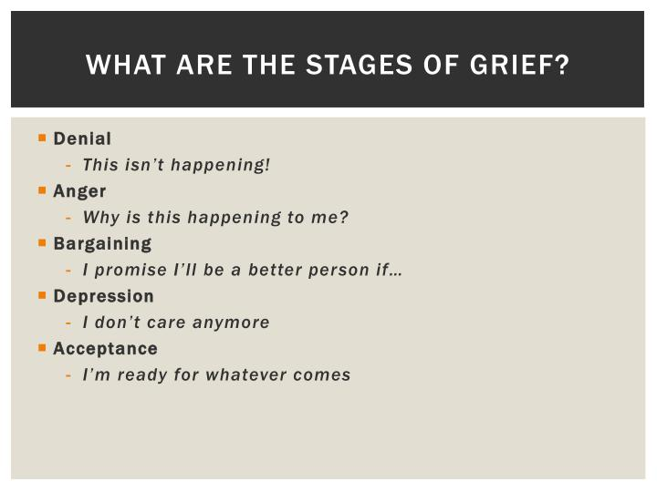 What are the Stages of Grief?