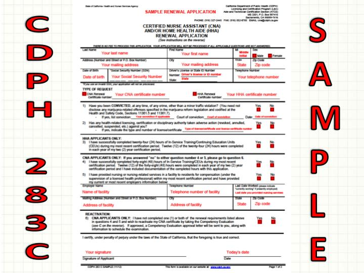 Ppt How To R Enew Y Our Certified Nurse Assistant Cna Home