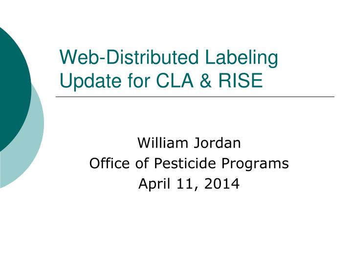 web distributed labeling update for cla rise n.
