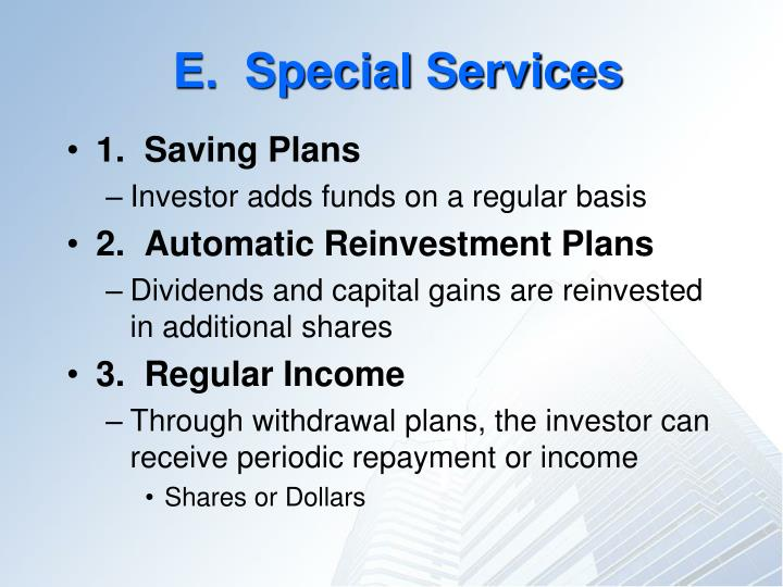 E.  Special Services