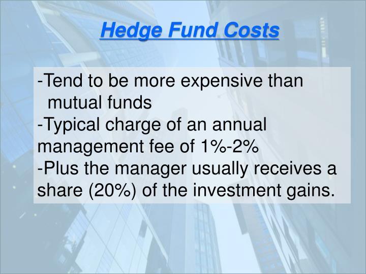 Hedge Fund Costs
