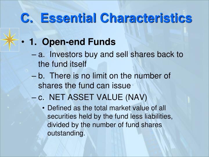 C.  Essential Characteristics