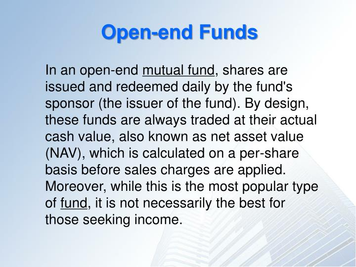 Open-end Funds