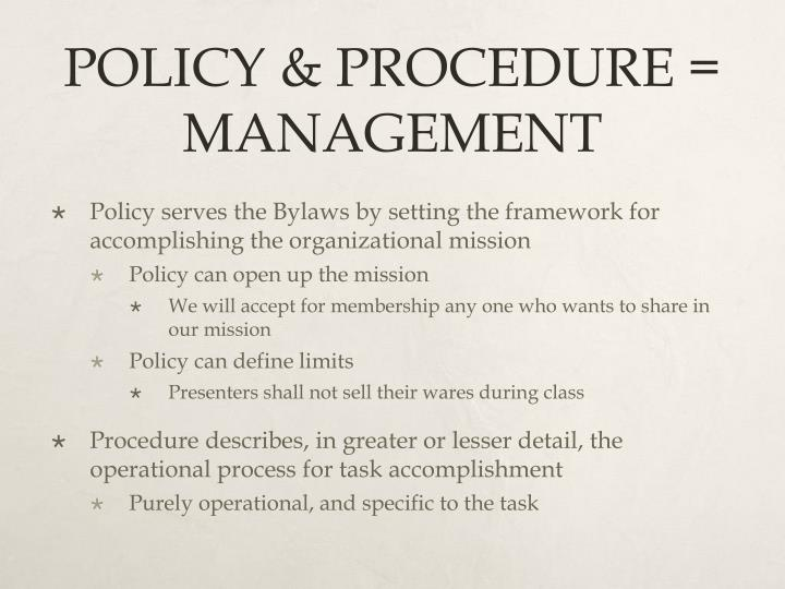 policy versus procedure